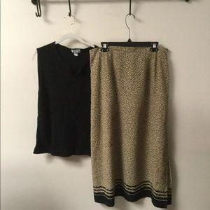 Sweater and skirt set xl